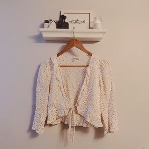 For Love and Lemons Aurora tie top with stars S